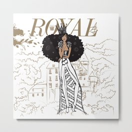 July Royal Metal Print