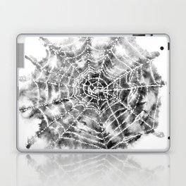 Watercolor Spider Web Halloween Art Laptop & iPad Skin
