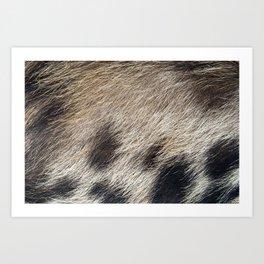 Pig Skin Hair Art Print