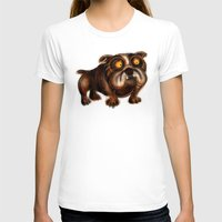 bulldog T-shirts featuring Bulldog by Riccardo Pertici