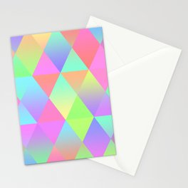 Colorful Geometric Pattern Prism Holographic Foil Triangle Texture Stationery Cards