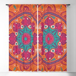 Colorful Mandala Pattern 017 Blackout Curtain