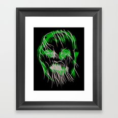 Face Illustration 10 Framed Art Print
