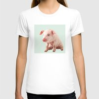 pig T-shirts featuring Pig by Dora Birgis