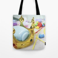 crown Tote Bags featuring Crown by Faith Buchanan