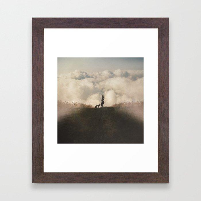 Boyhood Bravery Framed Art Print