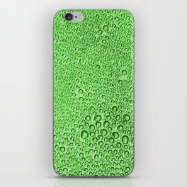Water Condensation 05 Green iPhone Skin