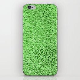 Water Condensation 05 Green iPhone Skin
