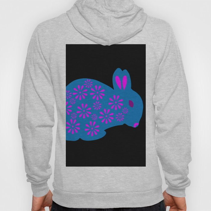 Rabbit made of Flowers Hoody