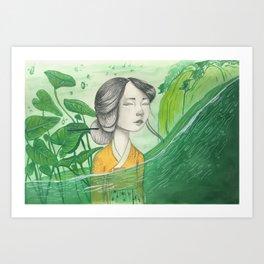 The Lonely Traveler II Art Print