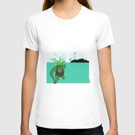 Swimmer at Diamond Head T-shirt