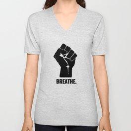 Breathe Black Lives Matter George Floyd Unisex V-Neck