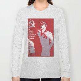 Russia, URSS Vintage Poster (8) Long Sleeve T-shirt
