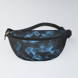 Triangle Geometric Blue Smoky Galaxy Fanny Pack