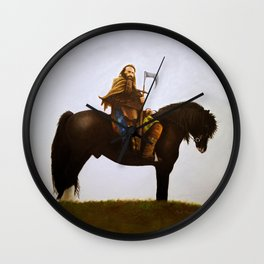 Charlie On Horse Wall Clock