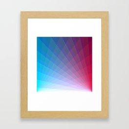 Laser beams meeting Framed Art Print