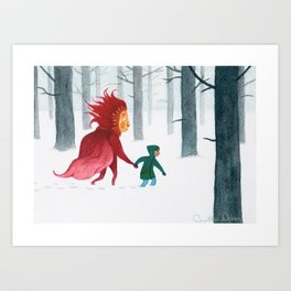 wintery endeavors Art Print