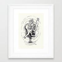 revolution Framed Art Prints featuring Revolution! by Rilke Guillén
