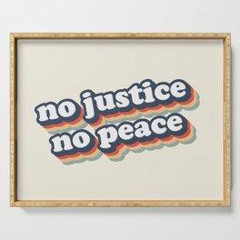 No Justice No Peace BLM 2020 Serving Tray