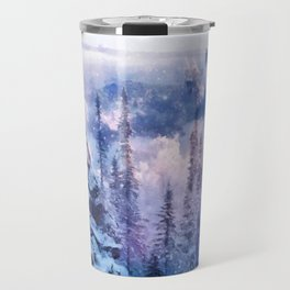 Winter forest in the mountains II Travel Mug
