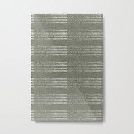 farmhouse stitch - olive Metal Print