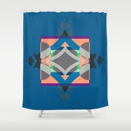 Bold Geometric Color Study Mandala Shower Curtain