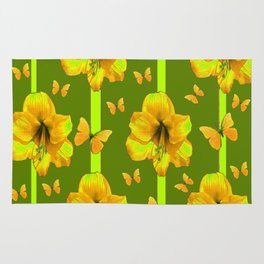 "GREEN AMARYLLIS ""FOR THE LOVE OF BUTTERFLIES"" Rug"