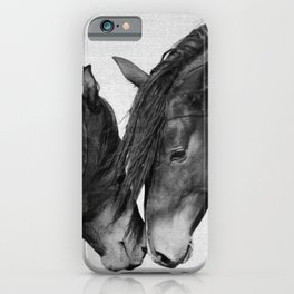 Horses - Black & White 4 iPhone Case