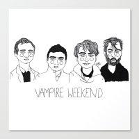 vampire weekend Canvas Prints featuring Vampire Weekend by ☿ cactei ☿