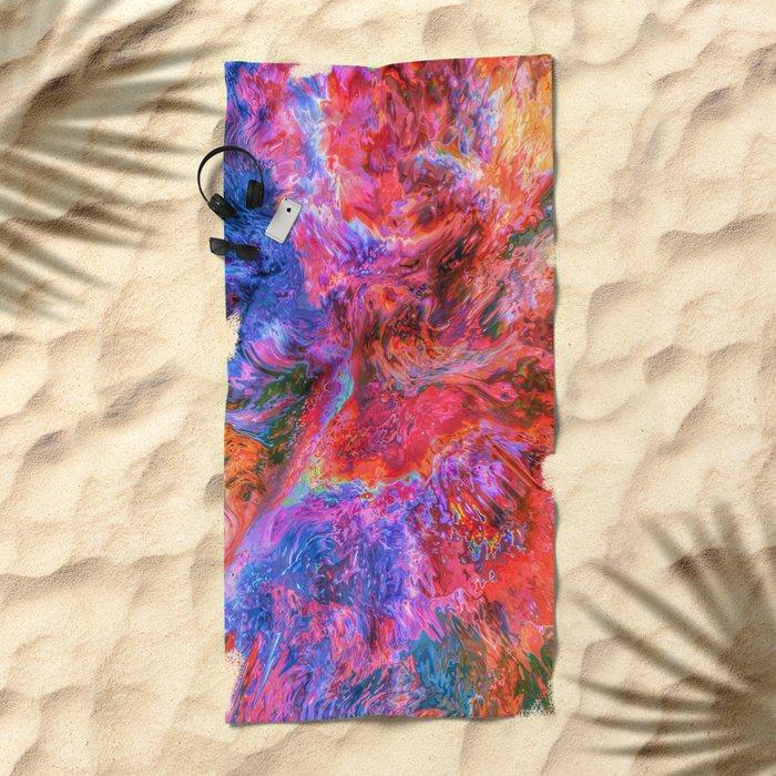God's Face Beach Towel