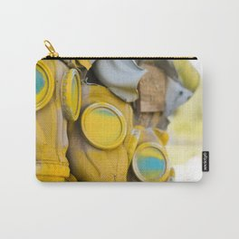 Yellow gas mask Carry-All Pouch