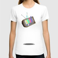 tv T-shirts featuring tv by Nate Galbraith