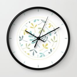 Assorted Leaf Silhouettes Color Mix Wall Clock