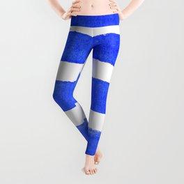 Watercolor Stripes of Blue Leggings