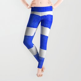 Watercolor Stripes of Blue Leggings