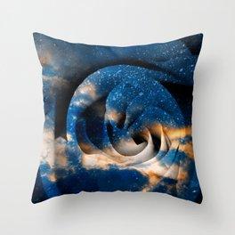 Phoenix Fury Rose Throw Pillow