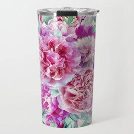 Beautiful soft pink peonies II Travel Mug