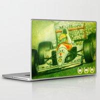 senna Laptop & iPad Skins featuring Ayrton Senna Tribute by TheToonPlanet