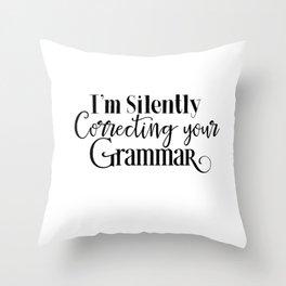 Nerdy Girls Grammarnazi Funny Geek Smarty Pants Unisex Shirt Throw Pillow