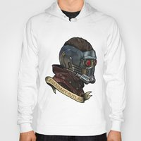 star lord Hoodies featuring Star Lord Legendary Outlaw by Victoria Jennings
