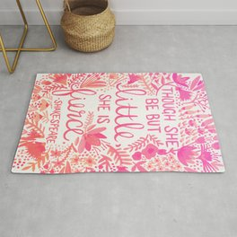Little & Fierce – Pink Ombré Rug