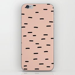 Peach dash abstract stripes pattern iPhone Skin