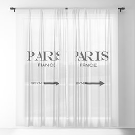 Paris - France Sheer Curtain