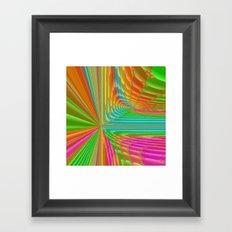 Abstract 359 a dynamic fractal Framed Art Print