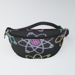 Gold and Silver Atomic Structure Pattern Fanny Pack