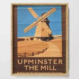 Upminster the Mill Vintage Travel Poster Serving Tray