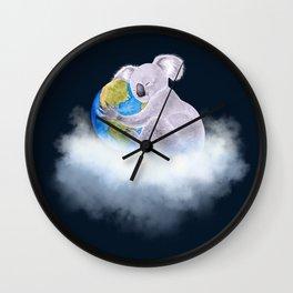 Koala in Heaven - Climate Change Awareness Wall Clock