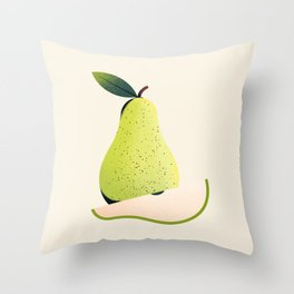 Growing a Pear Throw Pillow