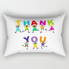 Thank You Kids Text Rectangular Pillow