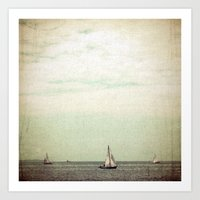sail Art Prints featuring Sail by Hilary Upton